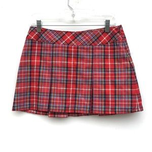 A&F Plaid Pleated Micro Mini Schoolgirl Skirt